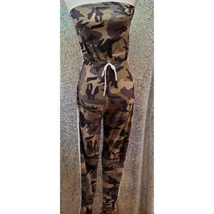 Fitted army jumpsuit